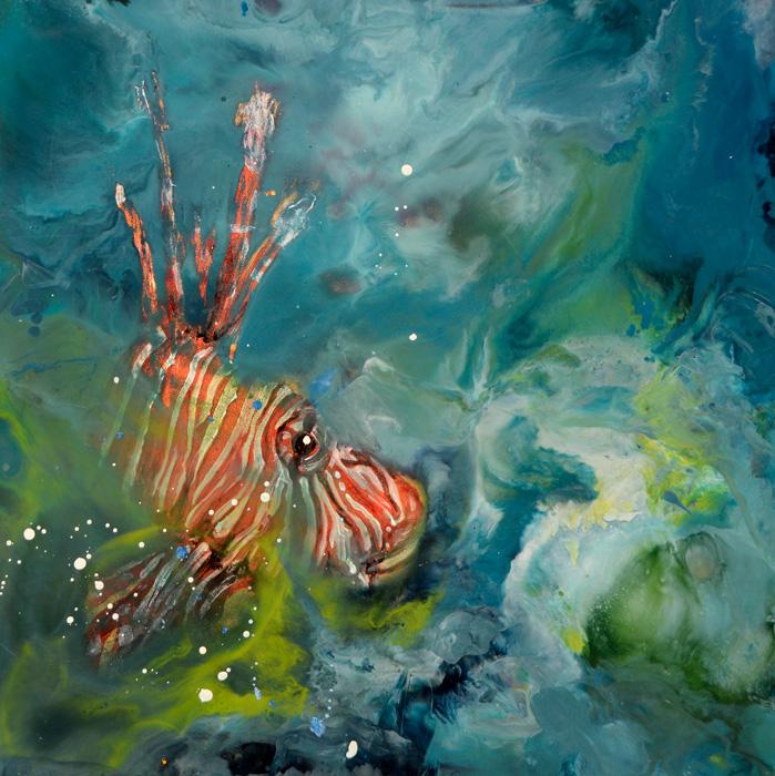 Marine Scene II, Lion-fish